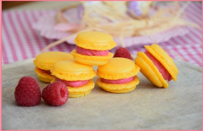 Macarons mit Himbeer-Ganache
