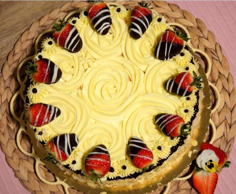 Erdbeer Vanille Torte Kuchencottage