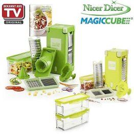 Genius Nicer Dicer Magic Cube + Magic Cube Gourmet + Behälterset 25 tlg.