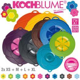 % Sale % Kochblume - Set - 8 x Überkochschutz - je 2x XS + M + L + XL