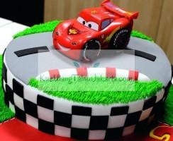 motif kue ultah cars