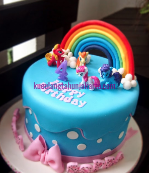 kue ultah fondant my little pony