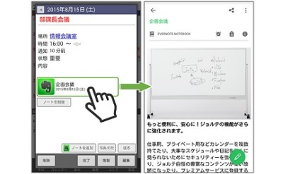 ジョルテのプレミアムサービス画面