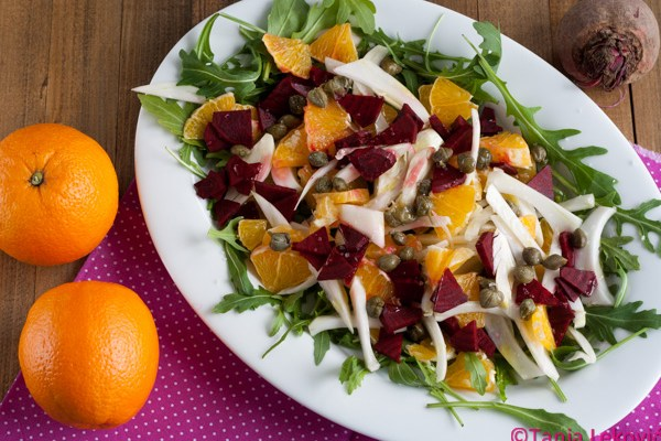 Vitaminska salata sa pomorandžom / Vitamin salad with orange