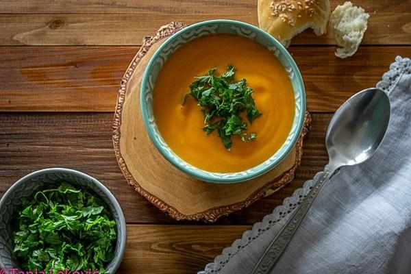 Čorba od slatkog krompira (batata) / Sweet potato soup