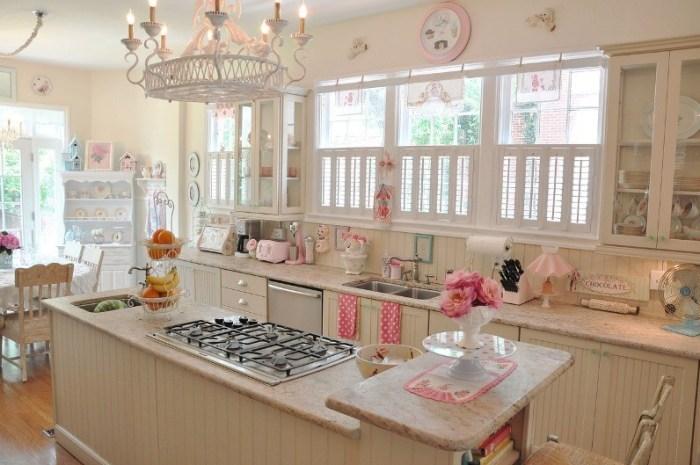 Интерьер кухни в стиле шебби шик