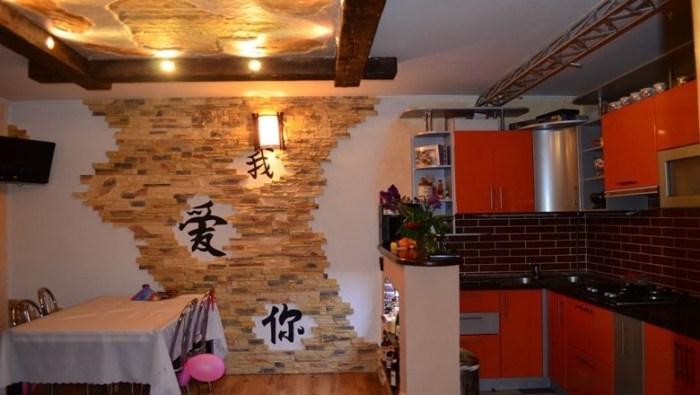 Пример освещения кухни в китайском стиле