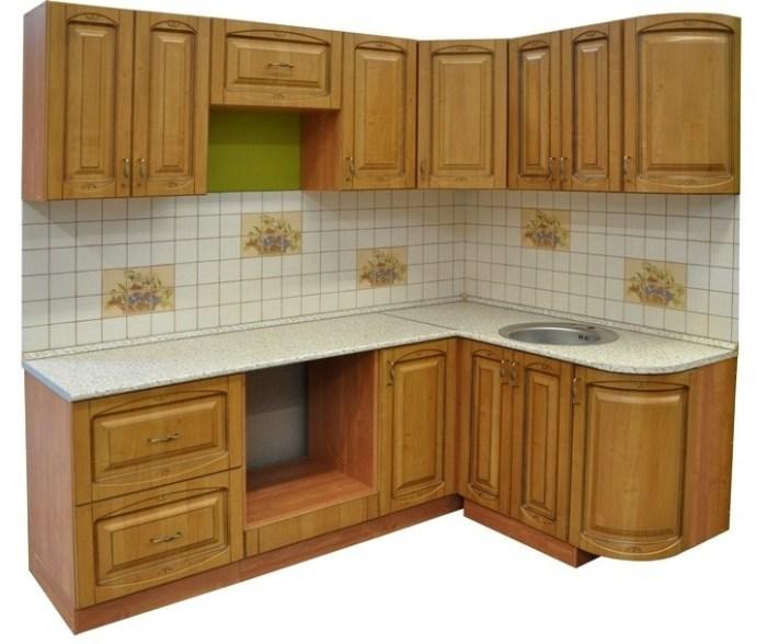 Гарнитур угловой кухни эконом-класса