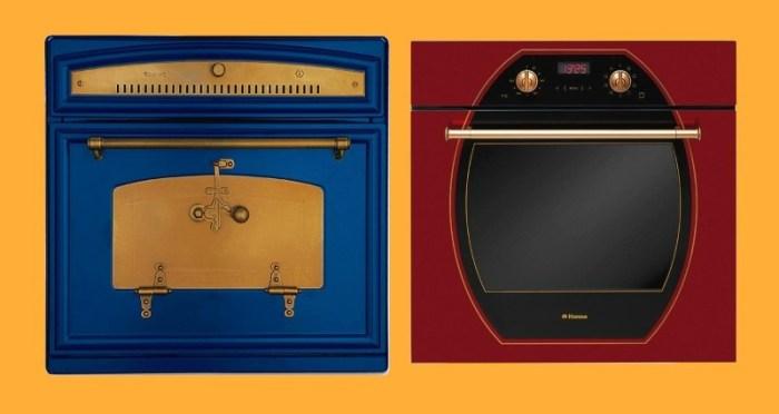 Цветные духовые шкафы Restart и Hansa