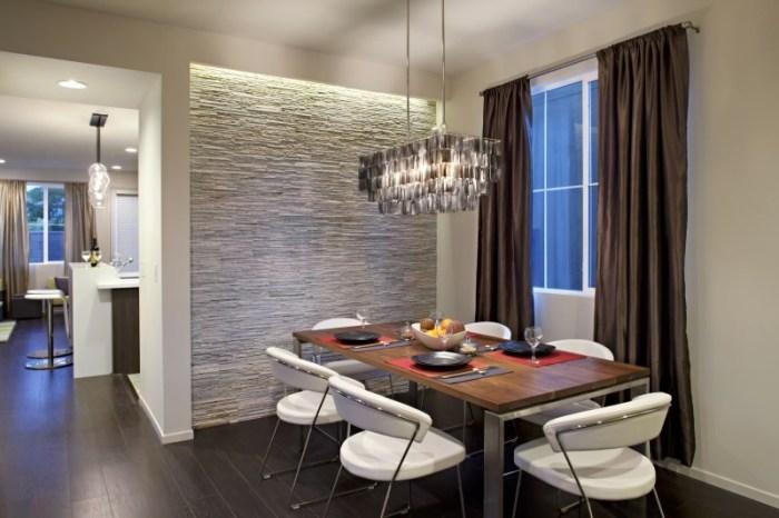 Отделка кухонной стены камнем