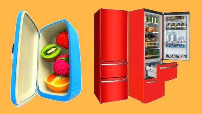 Старый и новый холодильник