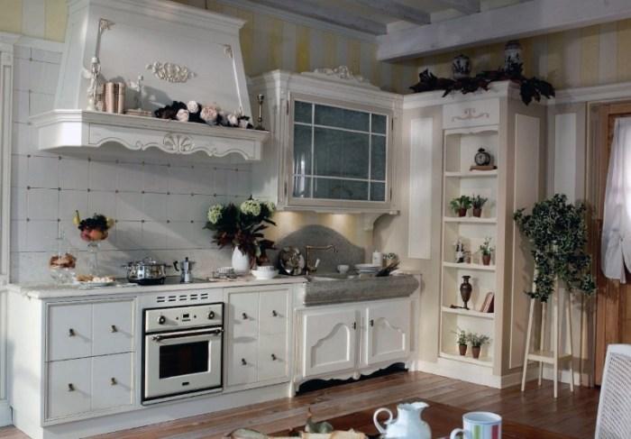 Дачная кухня в стиле прованс