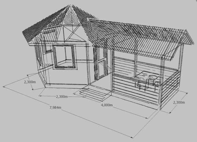 Пример проекта летней кухни