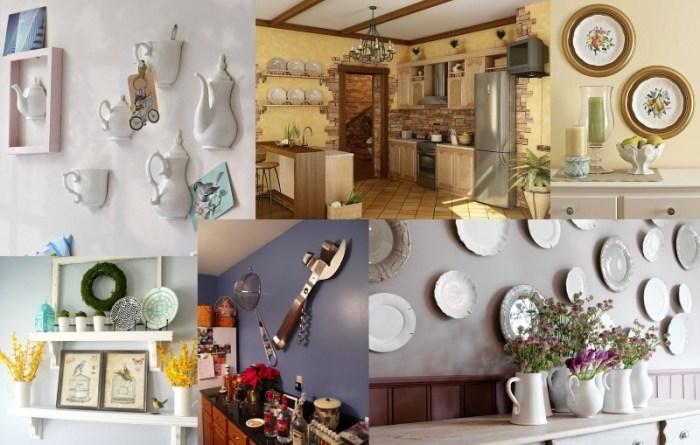Украшение стен на кухне