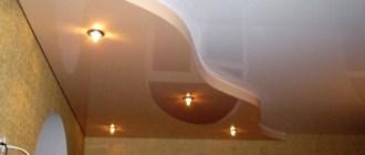 Супер потолок в два уровня: каким бывает и подходит ли для кухни?