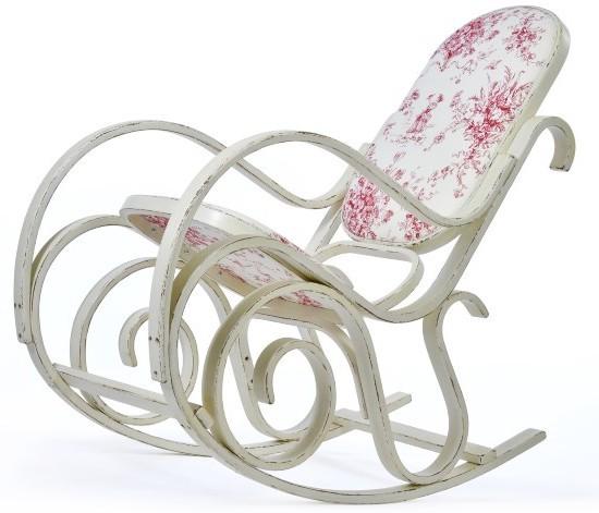 Кресло-качалка в стиле прованс