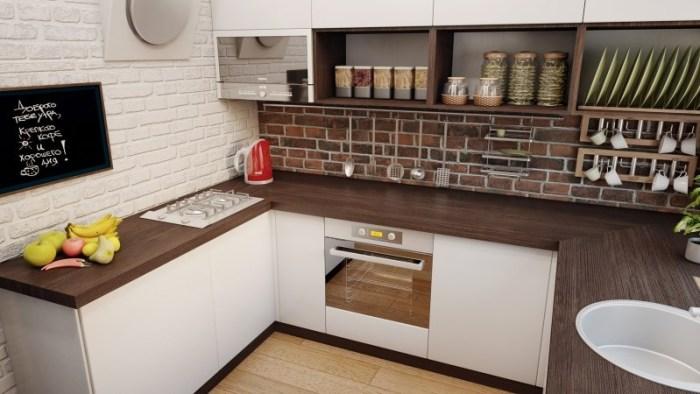 Кухонный гарнитур на маленькой кухне