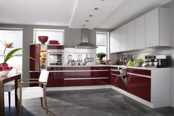 Интерьер кухни в стиле хай-тек