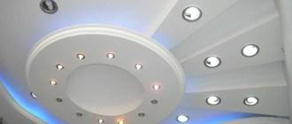 Гипсокартонный потолок на кухне: виды материала и особенности монтажа