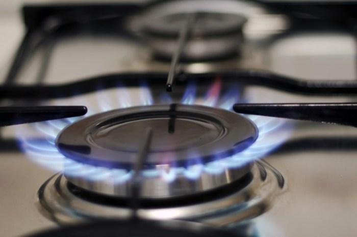 Горение газовой конфорки