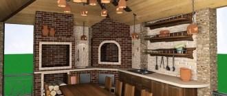 Дачные вопросы обустройства: продумываем проект летней кухни