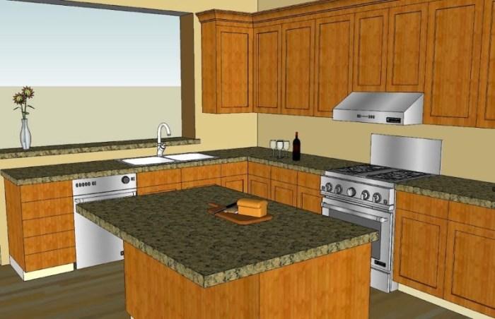 Кухня, смоделированная в программе Google SketchUp
