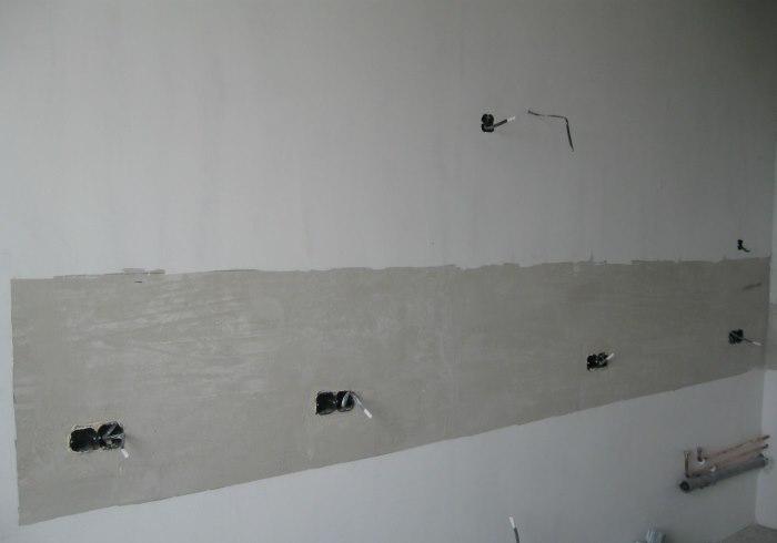Подготовка стены под кладку фартука