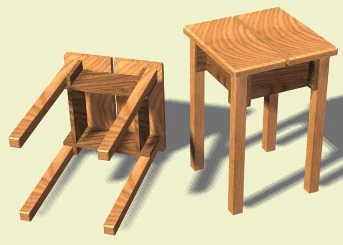 Самодельные деревянные стульчики