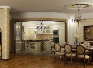 Галерея кухонь в классическом стиле, часть 4