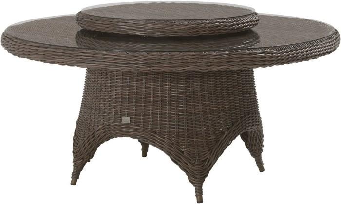 Плетеный круглый стол с подставкой «ленивая Сьюзен»