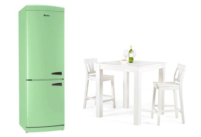 Зеленый холодильник Ardo