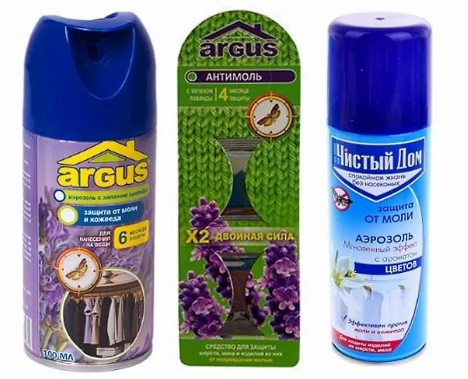 Инсектицидные средства от кожееда и моли