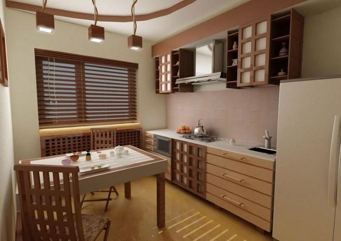 Дизайн девятиметровой кухни