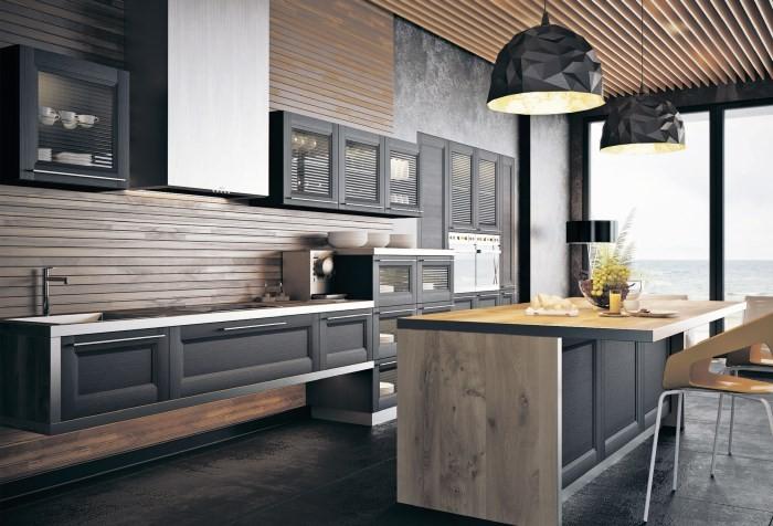 Рамочные фасады на кухне