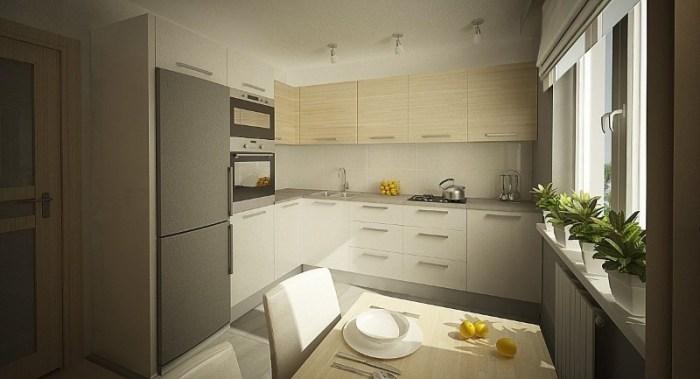 Угловая планировка кухни 12 кв