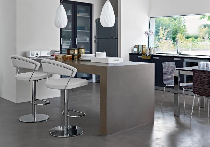 Высокие кухонные стулья