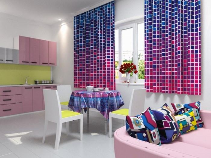 Собираем потрясающий комплект кухонных штор
