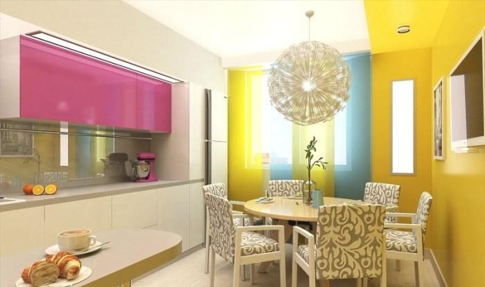 Цвета в дизайне желтой кухни