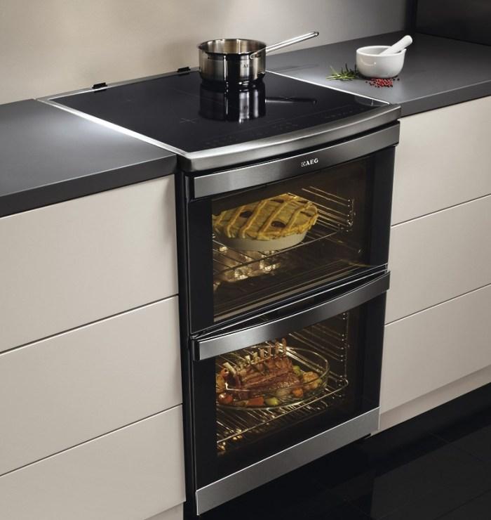 Индукционная печь AEG с духовым шкафом