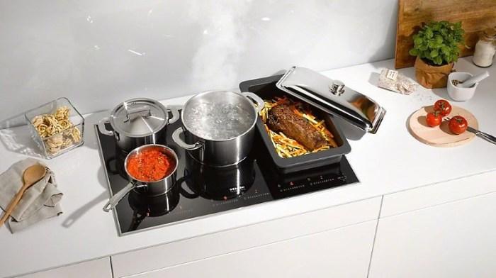 Индукционная печь с посудой