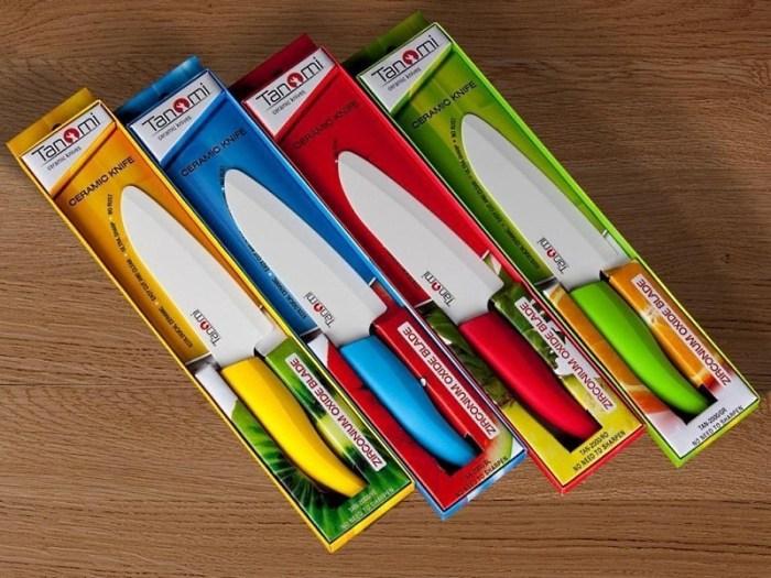 Керамические ножи в упаковке