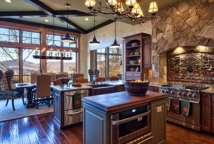 Стиль шале в интерьере кухни: вдохновение природными мотивами