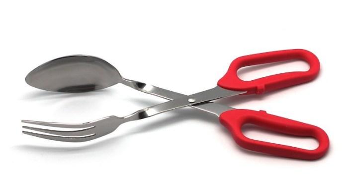 Кухонные щипцы с вилкой