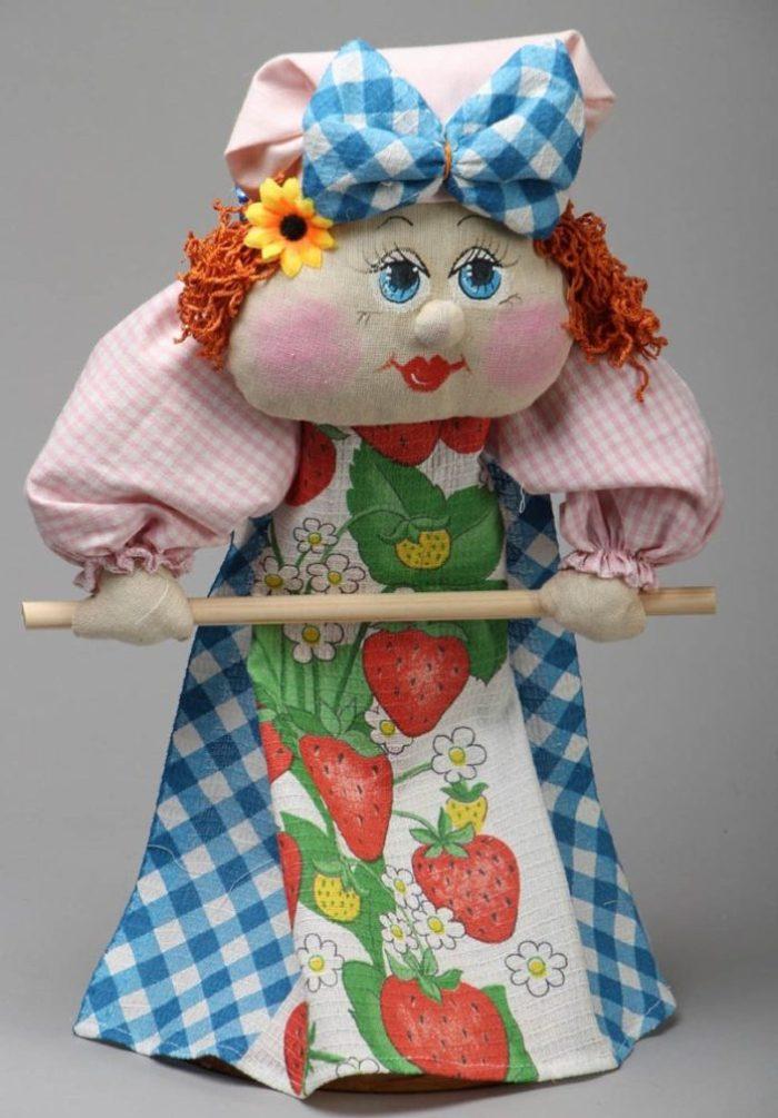 Кукла полотенцедержатель для кухни своими руками