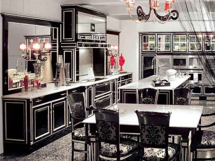 Ретро кухня в стиле ар деко