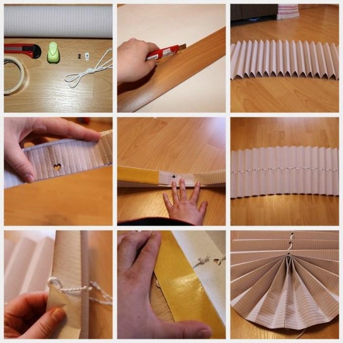 Бумажные шторы своими руками