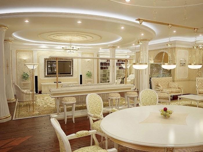 Элитная мебель для кухни студии