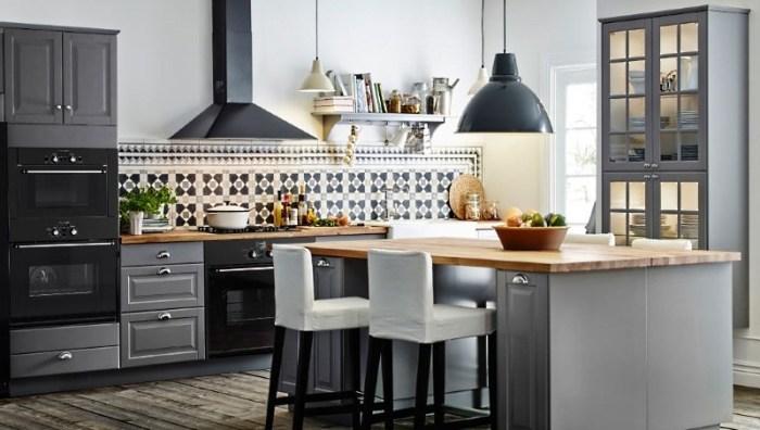 просторная кухня из икеи