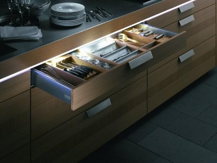 подсветка кухни светодиодной лентой