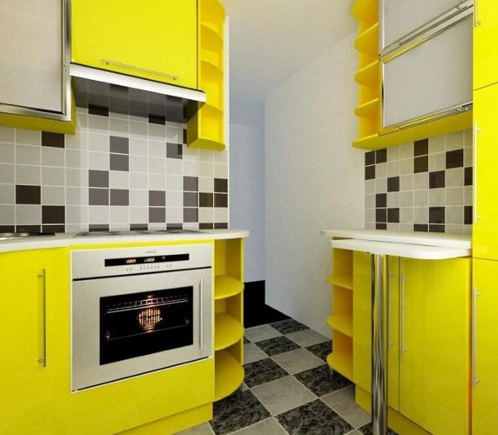 малогабаритная кухня в стиле модерн